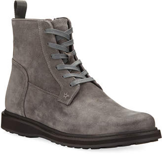 John Varvatos Star Lace-Up Suede Zip Boots