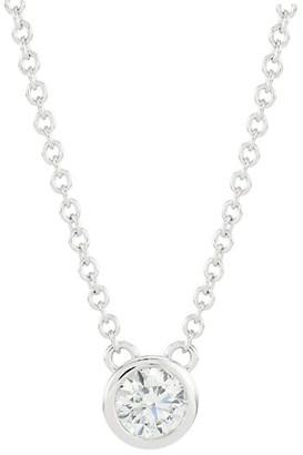 Hearts On Fire 18K White Gold & Bezel-Set Diamond Solitaire Pendant