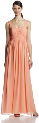 Donna Morgan Women's Bailey Long Chiffon Gown