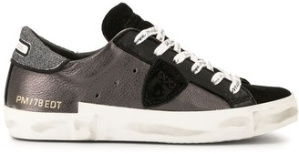 Philippe Model brand printed lace sneakers