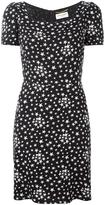 Saint Laurent star print tea dress