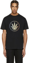 Palm Angels Black Rainbow Weed T-shirt