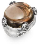 Pomellato67 Smoky Quartz, Marcasite & Sterling Silver Cabochon Ring