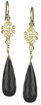 Jolie B Ray Tres Jolie Diamond and Removable Onyx Stone Earrings