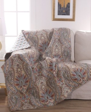 Levtex Kasey Damask Reversible Quilted Throw