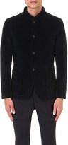 Armani Collezioni Birdseye check velvet jacket