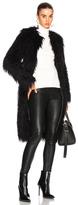 Nili Lotan Moxie Faux Fur Coat in Black.