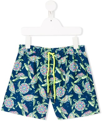 Sunuva Psychedelic Turtles Swim Shorts