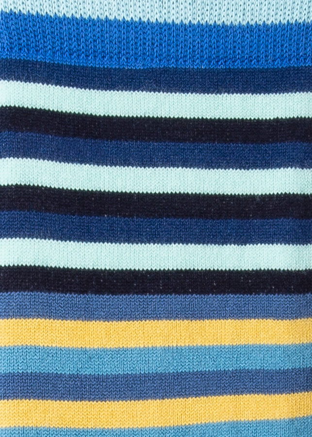 Thumbnail for your product : Paul Smith Men's Blue Stripe Socks With Yellow Details