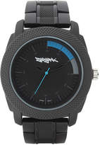 Zoo York Mens Matte Black And Blue Bracelet Watch