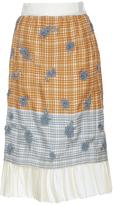Brock Collection Selin Printed Plaid Skirt