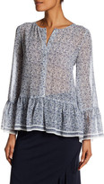 Max Studio Bell Sleeve Floral Blouse