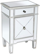 AA Importing Sullivan 2-Drawer Nightstand, Mirrored
