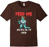 """Men's """"Feed Me and Tell me I'm Pretty"""" Scary Zombie T-Shirt 2XL"""
