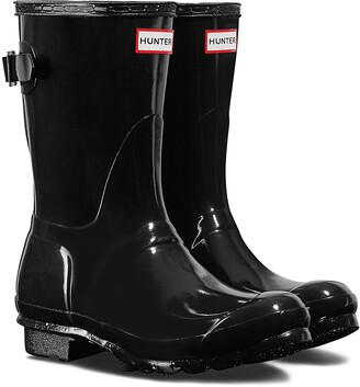 Hunter Original Short Adjustable Back Gloss Waterproof Rain Boot