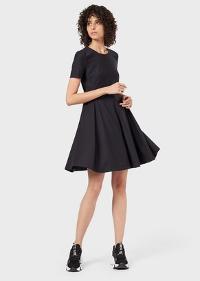 Emporio Armani Stretch Virgin Wool Dress With Circle Skirt
