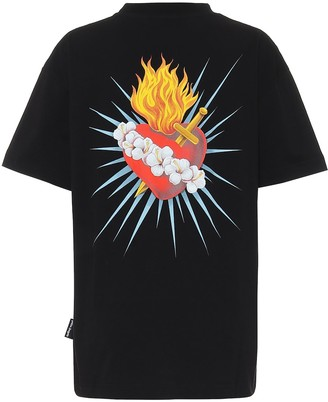 Palm Angels Sacred Heart cotton-jersey T-shirt