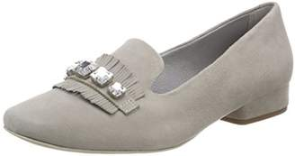 Be Natural Women's 24241 Loafers, (Lt. Grey)