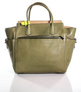 Reed Krakoff Green Leather Large Multi-Pocket Tote Handbag
