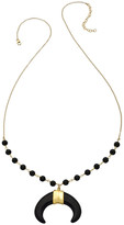 Heather Hawkins Pharoah Necklace - Double Horn - Black or White