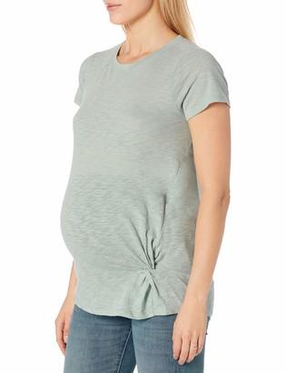 Motherhood Maternity Women's Short Sleeve Side Twist Tee
