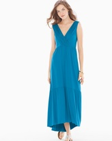 Soma Intimates Tiered Sleeveless Midi Dress Peacock