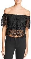 Lucy Paris Lace Off-The-Shoulder Top - 100% Bloomingdale's Exclusive