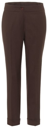 Etro High-rise stretch-wool pants
