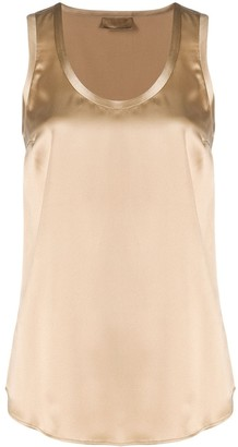 Brunello Cucinelli Sleeveless Round-Neck Top