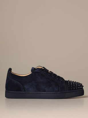Christian Louboutin Louis Junior Sneakers In Suede With Studs