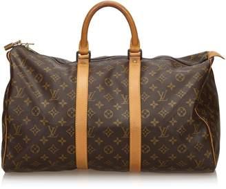 Louis Vuitton Brown Monogram Keepall 45