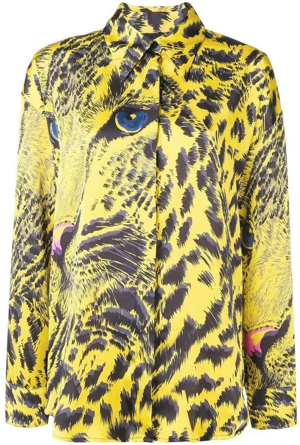 MSGM abstract tiger print shirt