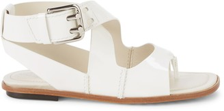 Tod's Ankle-Strap Patent-Leather Sandals