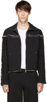 Telfar Black Layered Zip-up Sweater