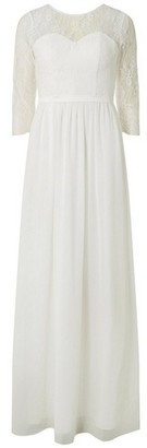 Dorothy Perkins Womens Showcase Bridal 'Molly' Lace Maxi Dress