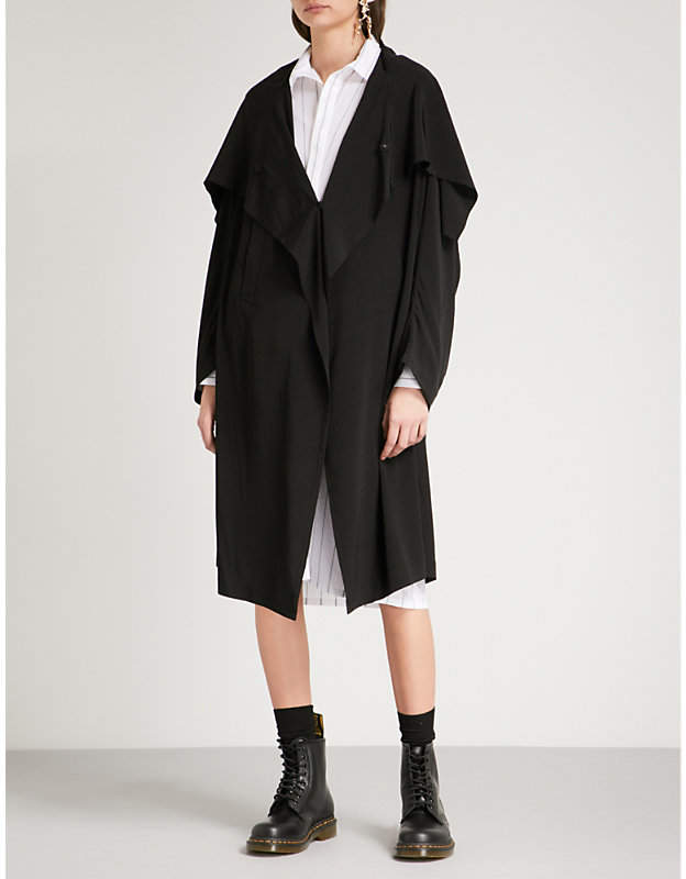 Y's Ys Draped-panel crepe jacket