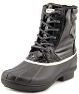 MICHAEL Michael Kors Easton Bootie Short Logo Rainboots, Black/White, 9 US / 40 EU