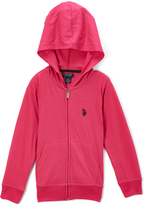 U.S. Polo Assn. Berry Zip-Up Hoodie - Toddler & Girls