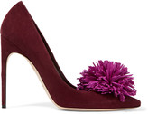 Brian Atwood Alis embellished suede pumps