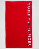 Tommy Hilfiger Logo Towel Red