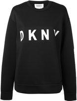 Donna Karan logo sweatshirt - women - Polyester/Rayon/Spandex/Elastane - XS