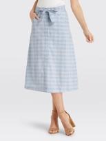 Draper James Linen Button Front Skirt