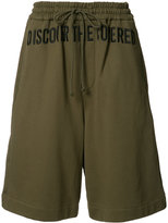 Juun.J embroidered track shorts