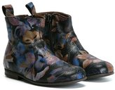 Pépé printed boots - kids - Calf Leather/Leather/rubber - 27