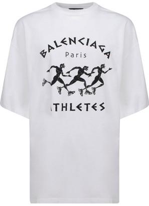 Balenciaga Athletes Print T-Shirt