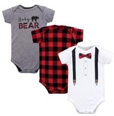 Little Treasures Little Treasure Baby Boy Short Sleeve Bodysuits, 3-Pack