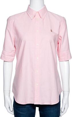 Ralph Lauren Light Pink Cotton Chambray Short Sleeve Shirt M