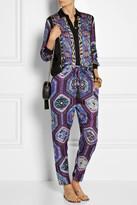Emilio Pucci Printed silk-charmeuse blouse