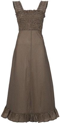 Ganni Sleeveless Seersucker Maxi Dress
