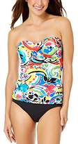 Anne Cole Women's Painterly Paisley Twist Front Tankini